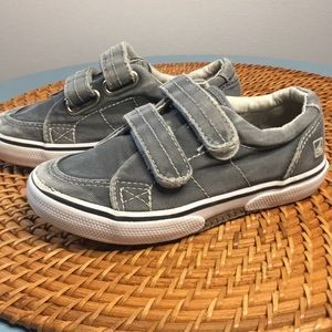 Sperry shoes toddler size 9 Gray Velcro
